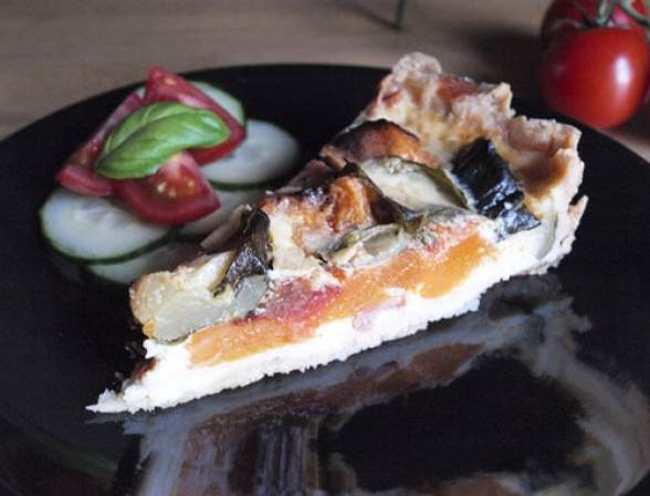 Roasted Butternut Squash and Tomato Tart