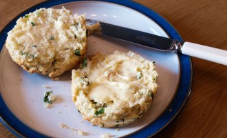 Cheese and Wild Garlic Scones - delicious recipe