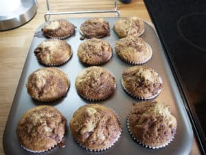 The most delcious rhubarb muffins I've ever tasted