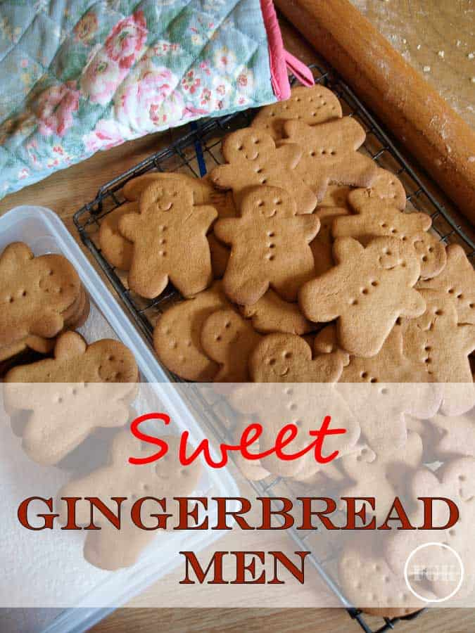 Homemade Sweet Gingerbread Men Cookies will delight young and old alike - here's my family recipe