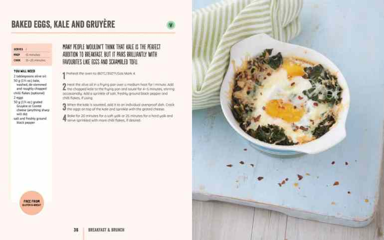 Baked Eggs, Kale and Gruyere