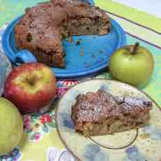 Enjoy a slice of homemade Spiced Apple and Ginger Cake