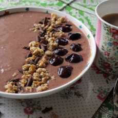 Chocolate Cherry Smoothie Bowl with Optimum G2.3 Platinum Series Blender