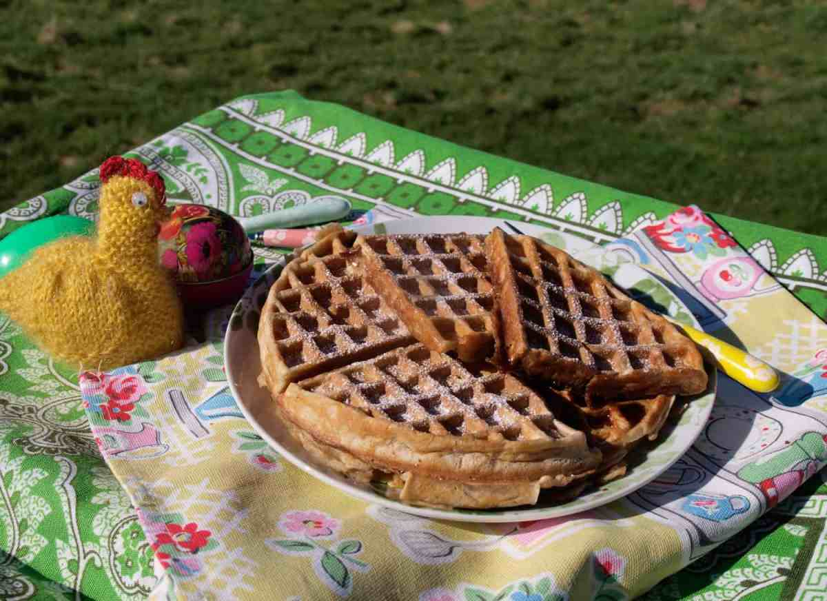 How to make Hot Cross Bun Waffles - Easter starts here!