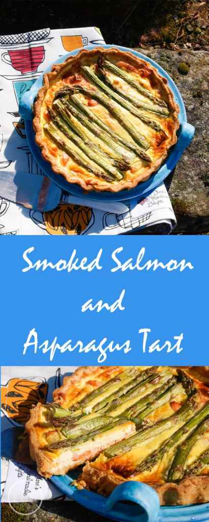This delicious Smoked Salmon and Asparagus Tart is perfect for summer picnics and summer celebrations