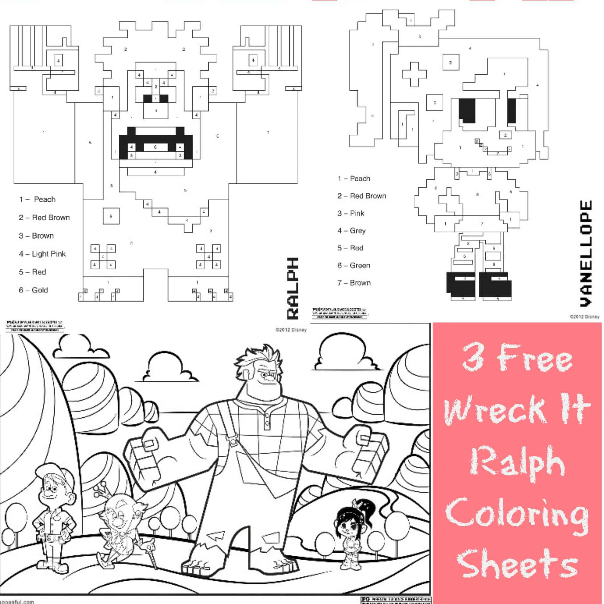 3 Free Printable Wreck It Ralph Coloring Sheets Farmers