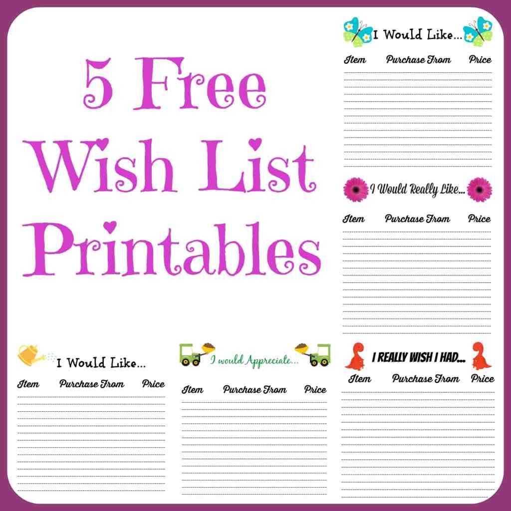 free printable christmas list template – Printable Christmas Wish List Template