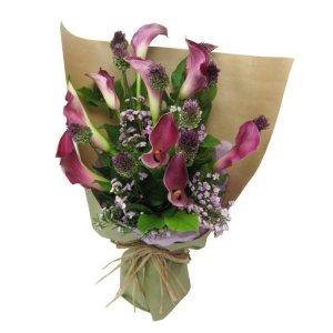 materazzi 9 purple calla lily by farm florist singapore