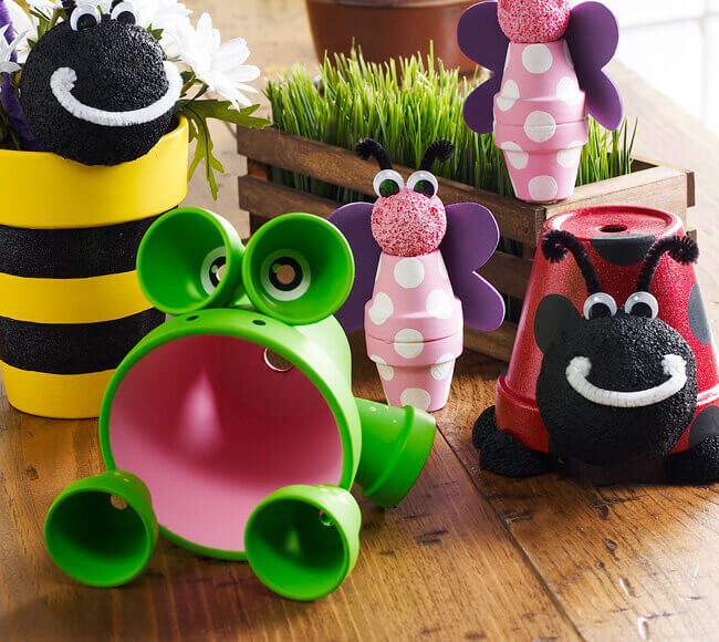 Adorable DIY Flower Pot Animals