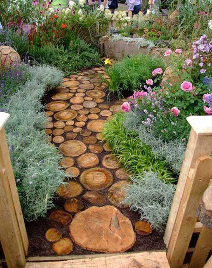 "Rustic Stepping ""Stones"" for a Truly Unique Garden"