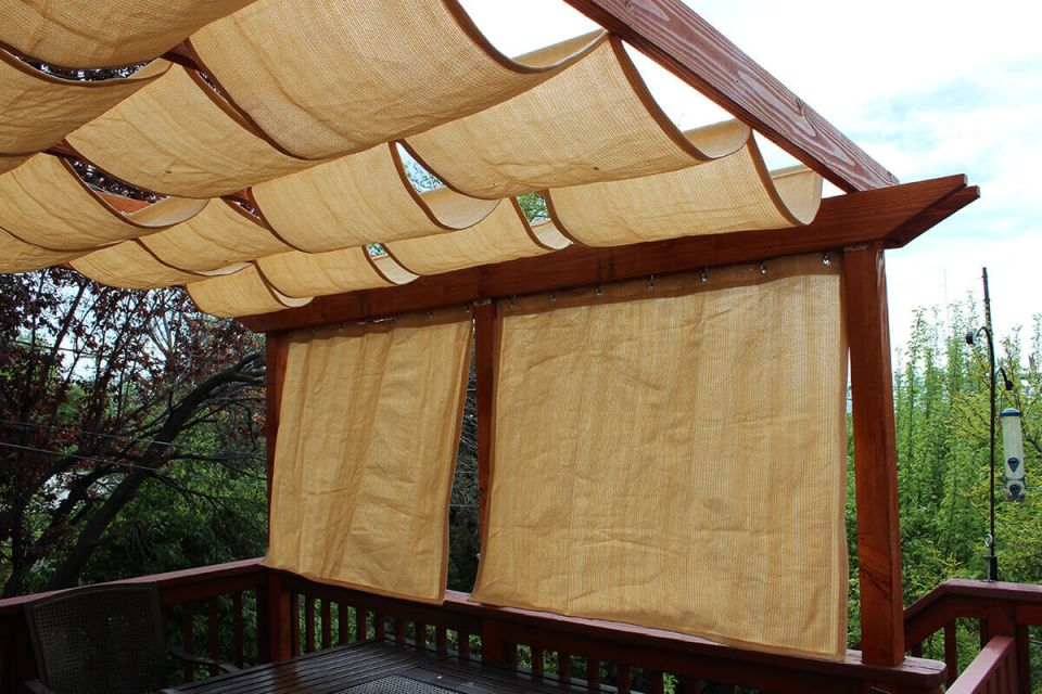 Rustic Draped Canopy from Natural Fibers