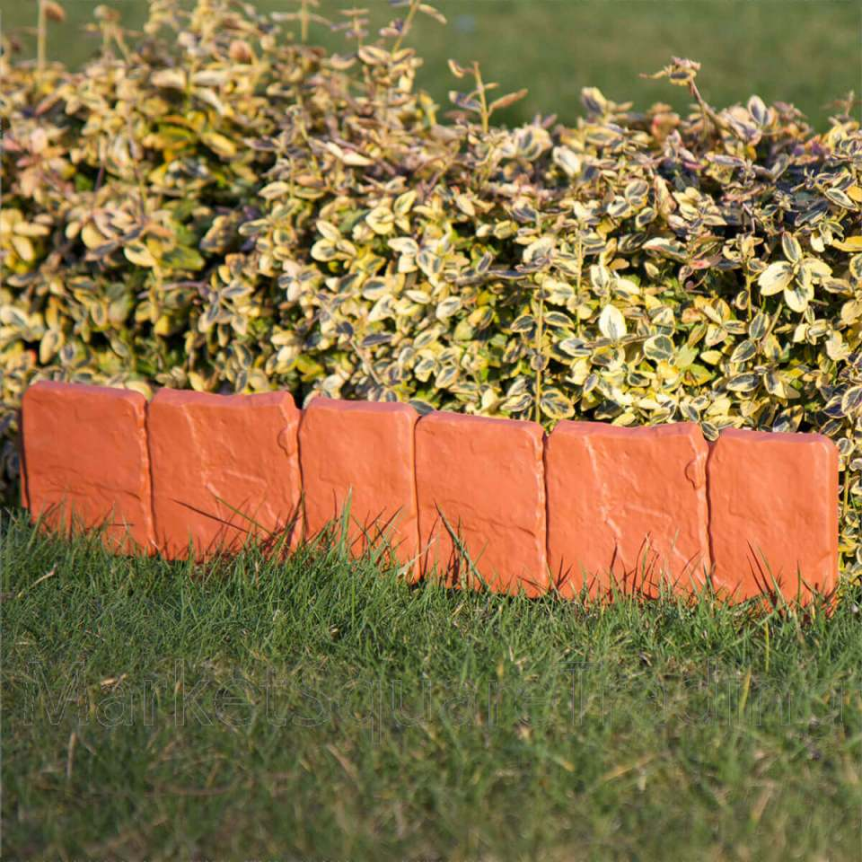 DIY Lawn Edging Ideas For Beautiful Landscaping: Finished Brick Short Garden Wall