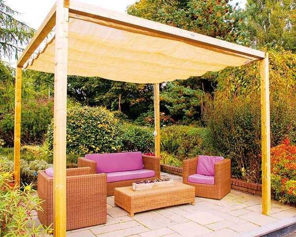 DIY Canopies/Sun Shades for Your Backyard