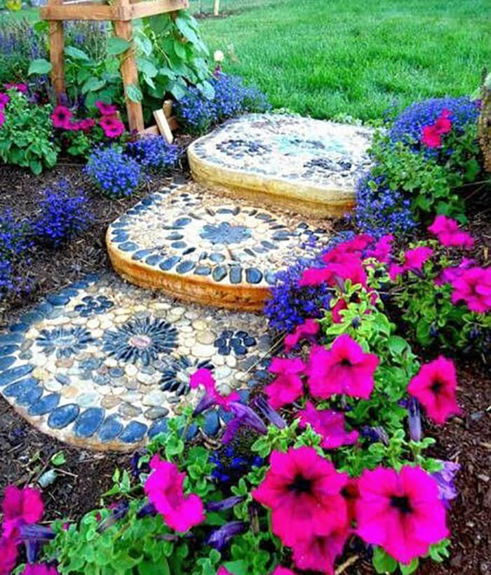 Colorful Stepping Stones for a Colorful Garden