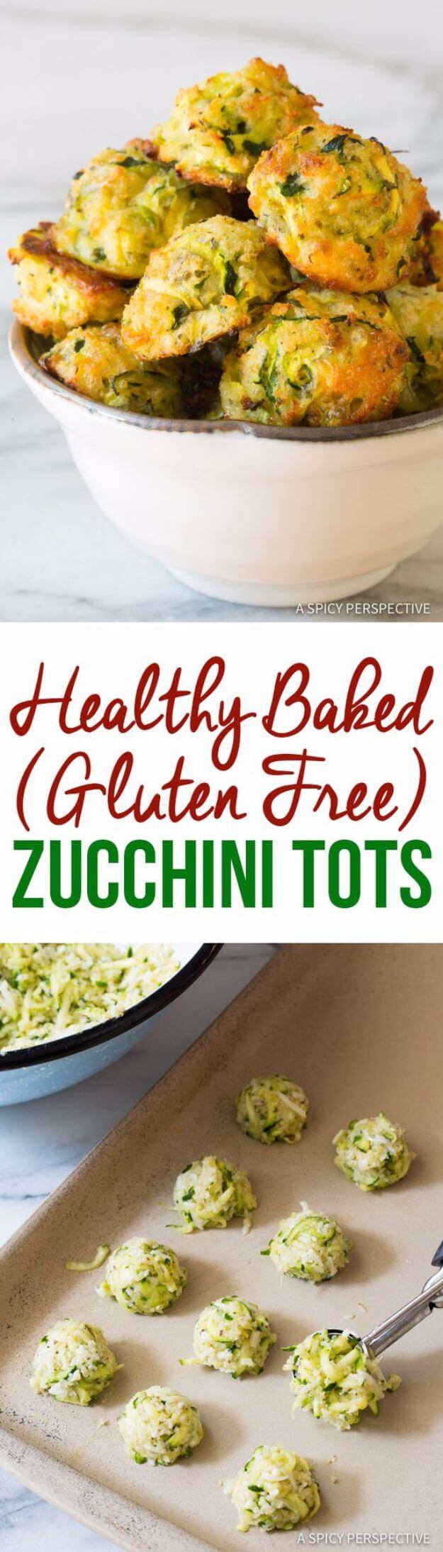 Healthy Baked Zucchini Tots