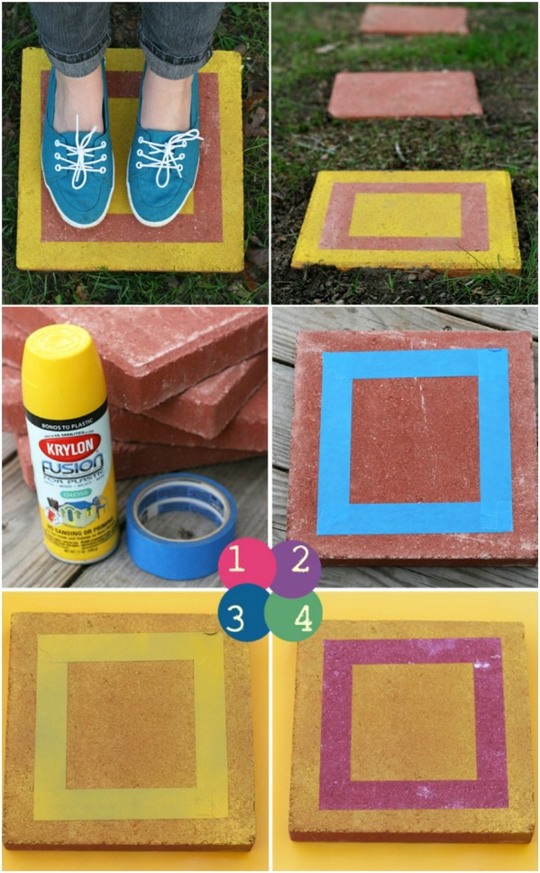 Cheap DIY Custom Stepping Stones