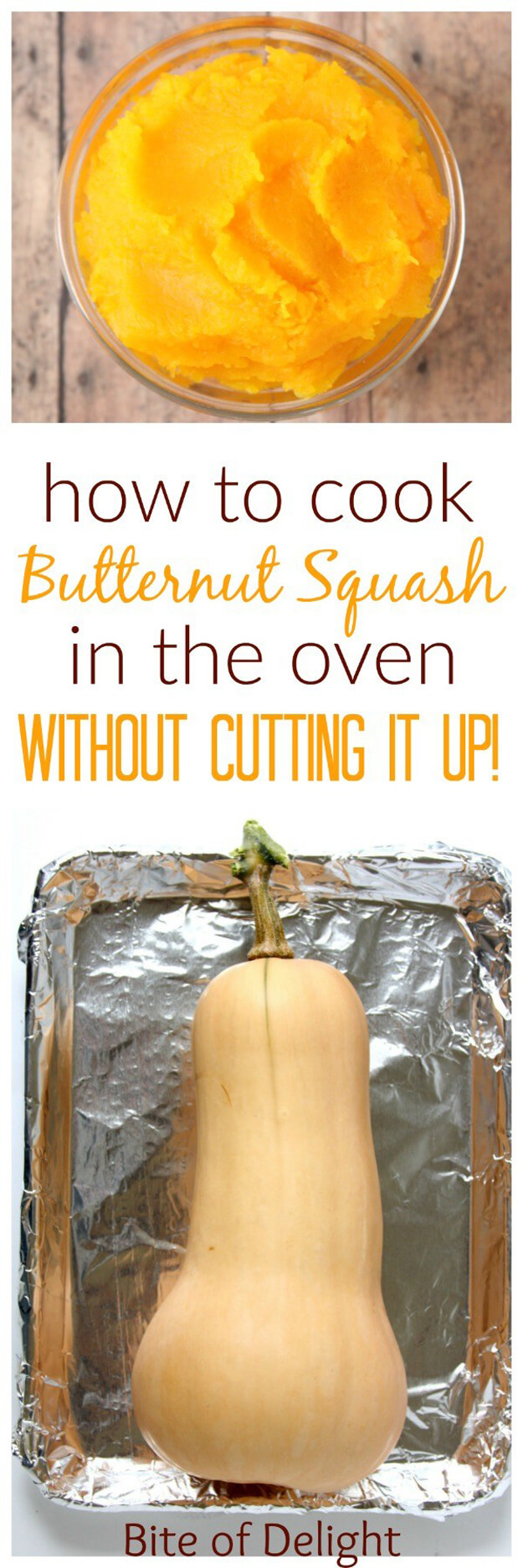 Cook Butternut Squash Without Cutting It