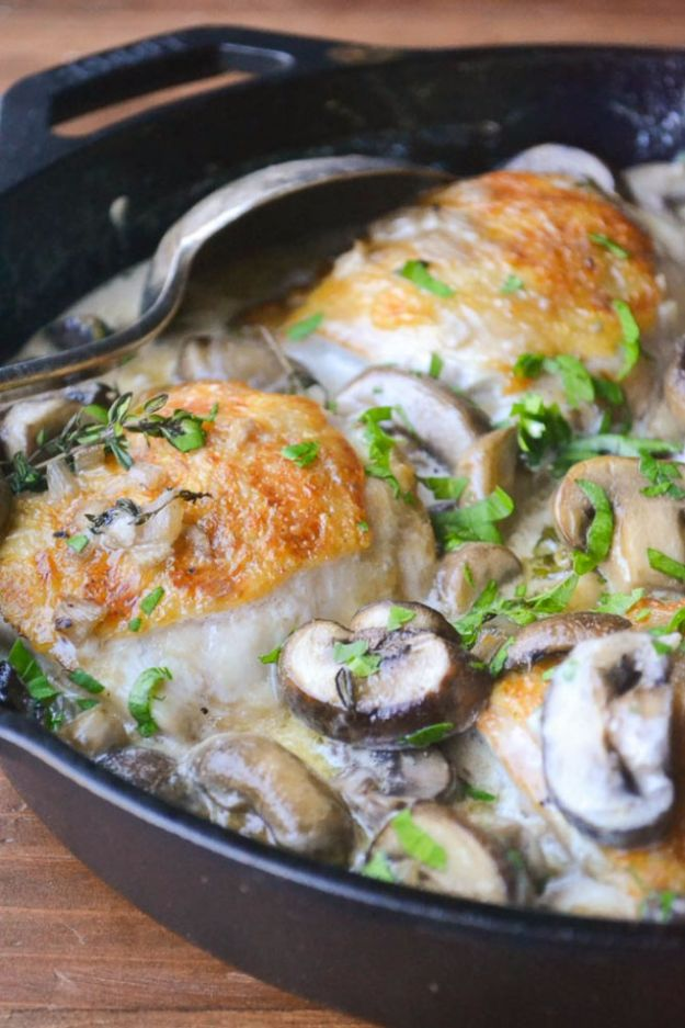 Chicken Thighs Marsala For Two