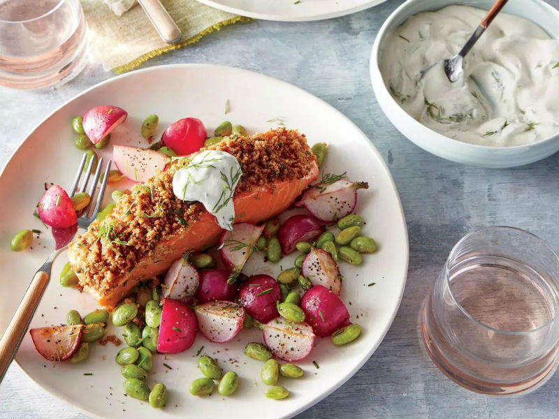 Dijon-Herb Crusted Salmon