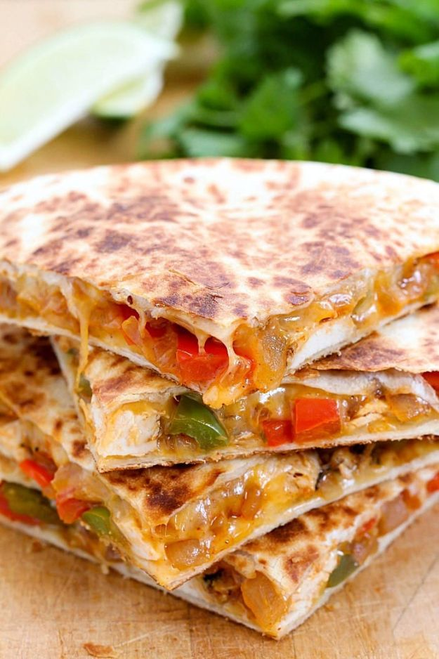 Easy Chicken Fajita Quesadilla