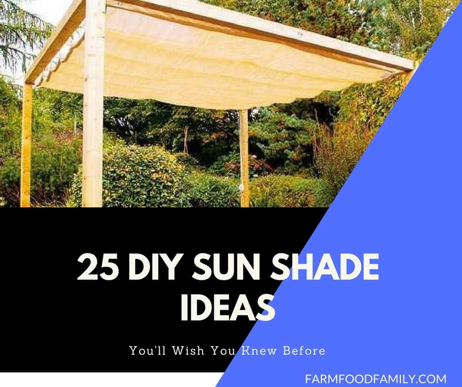 25 Easy DIY Sun Shade Ideas For Your Beautiful Backyard