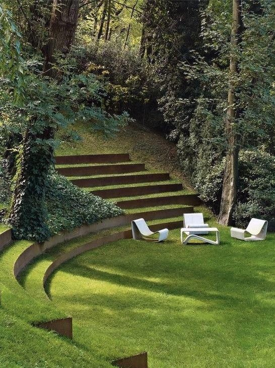 DIY Lawn Edging Ideas For Beautiful Landscaping: Seating Garden Edging Ideas