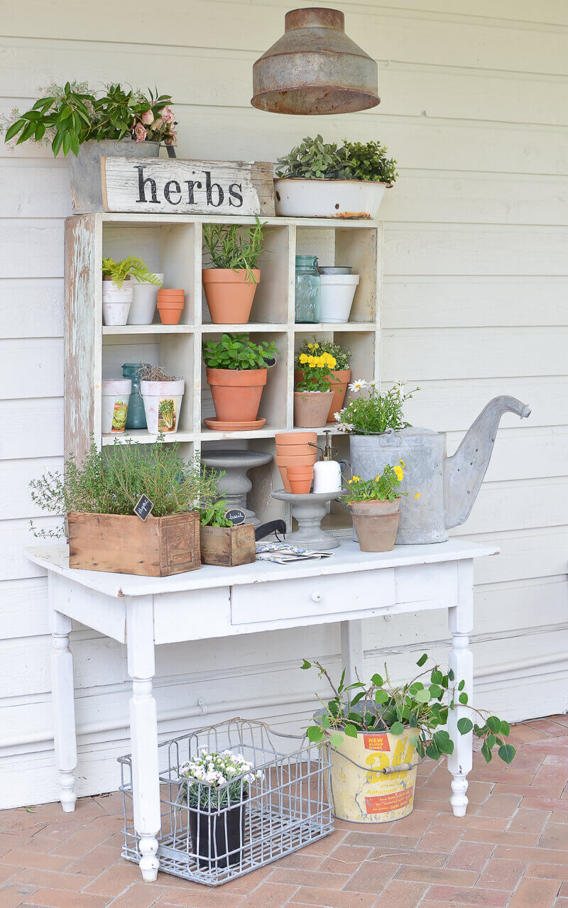 A Cute Cubby Hole Herb Garden