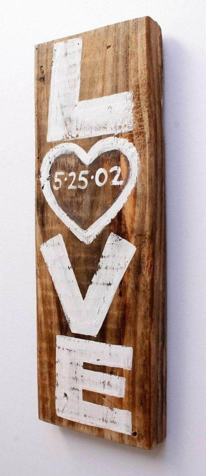 Simple Plank Wedding Date Sign
