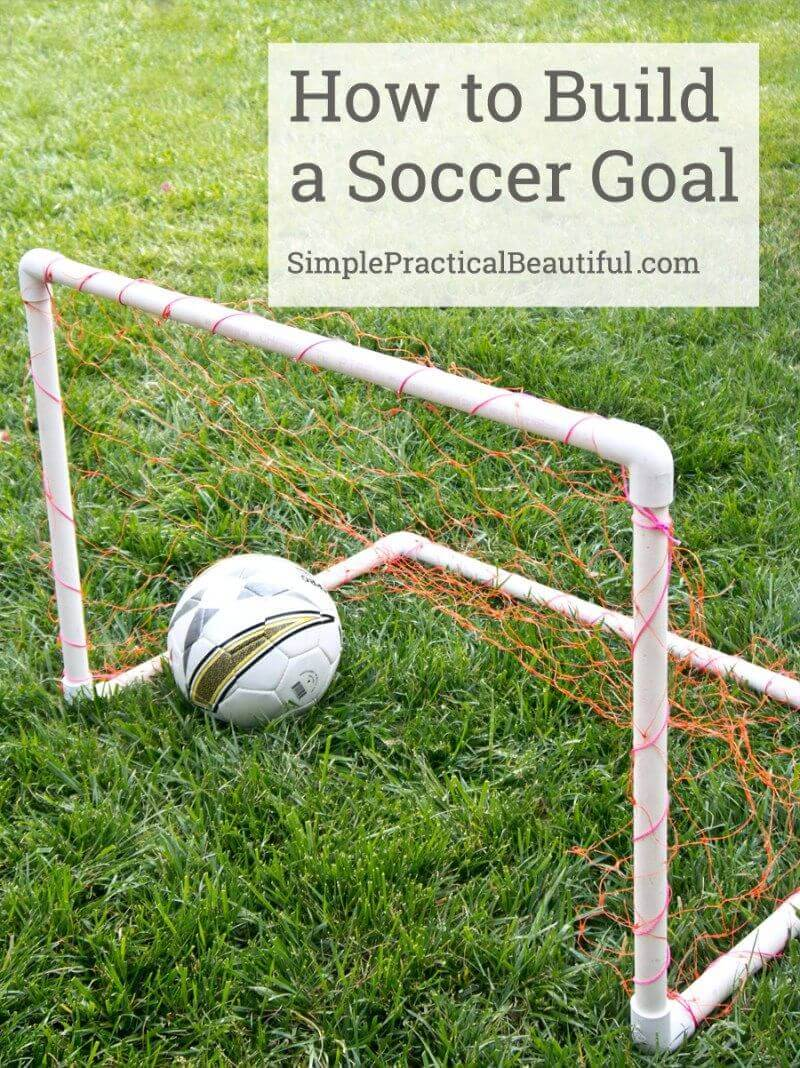 Backyard Soccer Goal from Just 12 Pieces