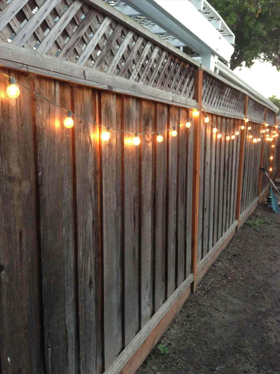 String Pretty Globe Lights Along Your Fence