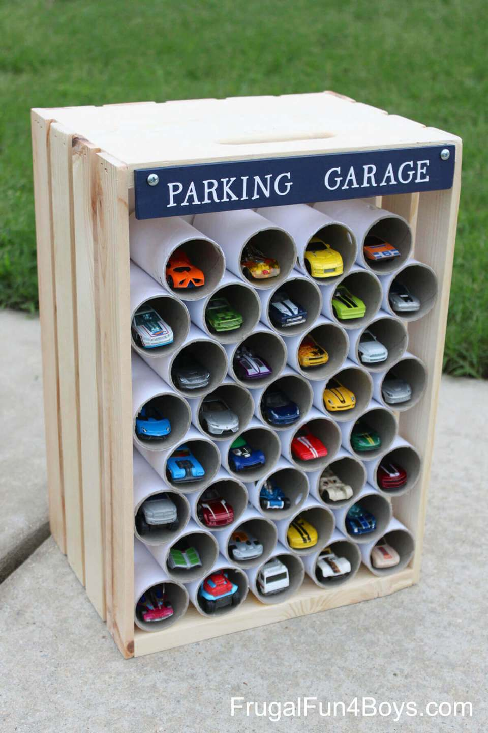 "Easy to Organize Storage ""Garage"" for Toy Cars"