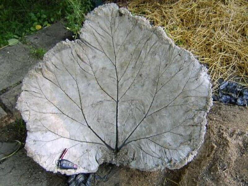 Make a Concrete Leaf Impression