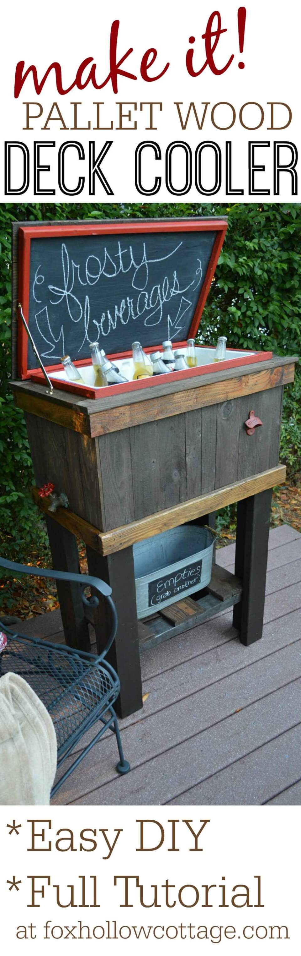 An Elevated DIY Cooler for Your Deck