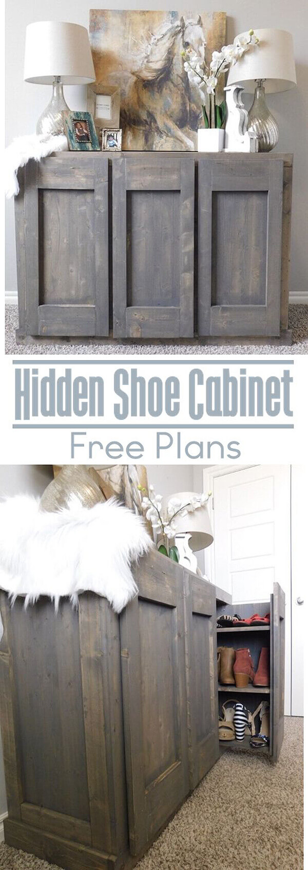 Cabinet With Hidden Shoe Rack