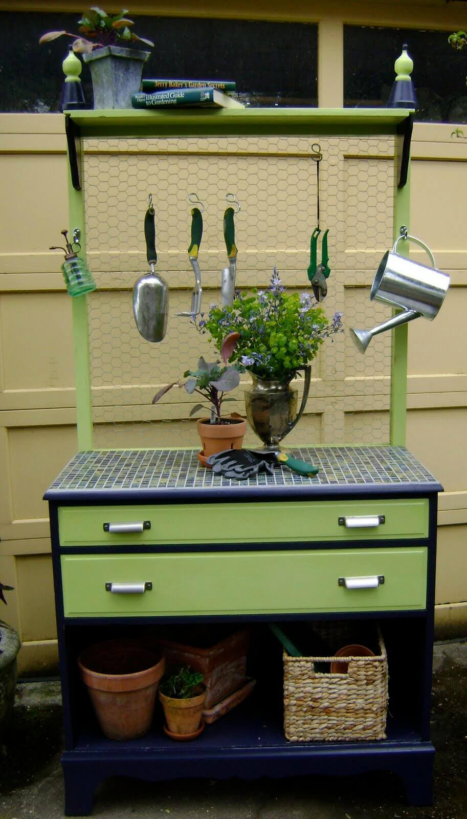Tidy and Tiled Garden Tool Caddy