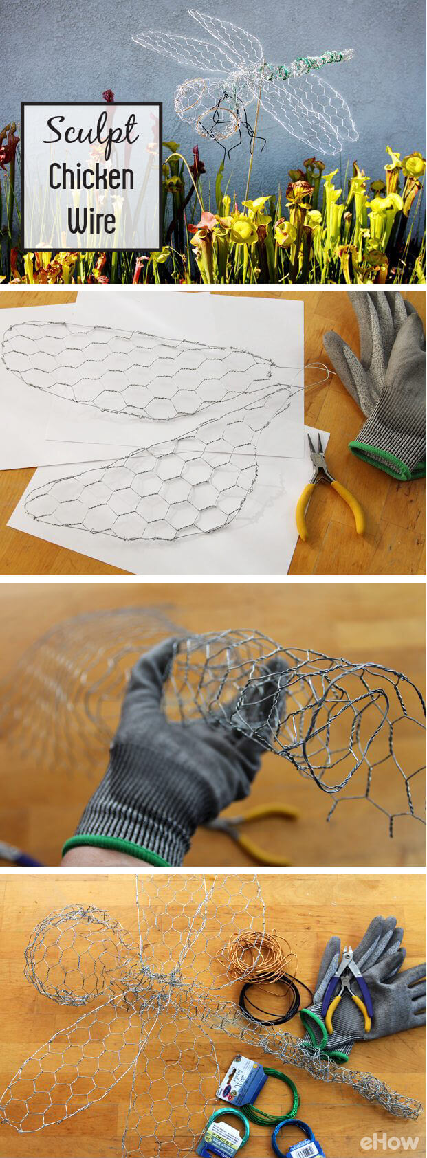 Make a Dragonfly from Chicken Wire