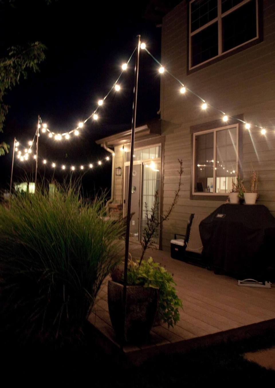Year-Round Backyard Deck String Lights