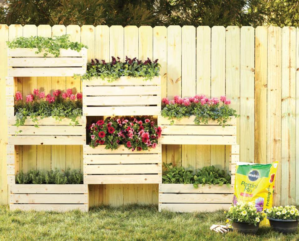 A Creative Use for Ordinary Wooden Crates