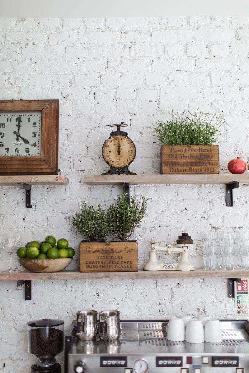 Exposed Brick Makes a Natural Statement Wall