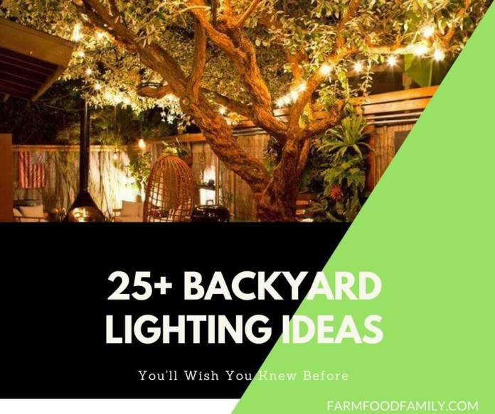 25+ Pretty Backyard Lighting Ideas for Your Home