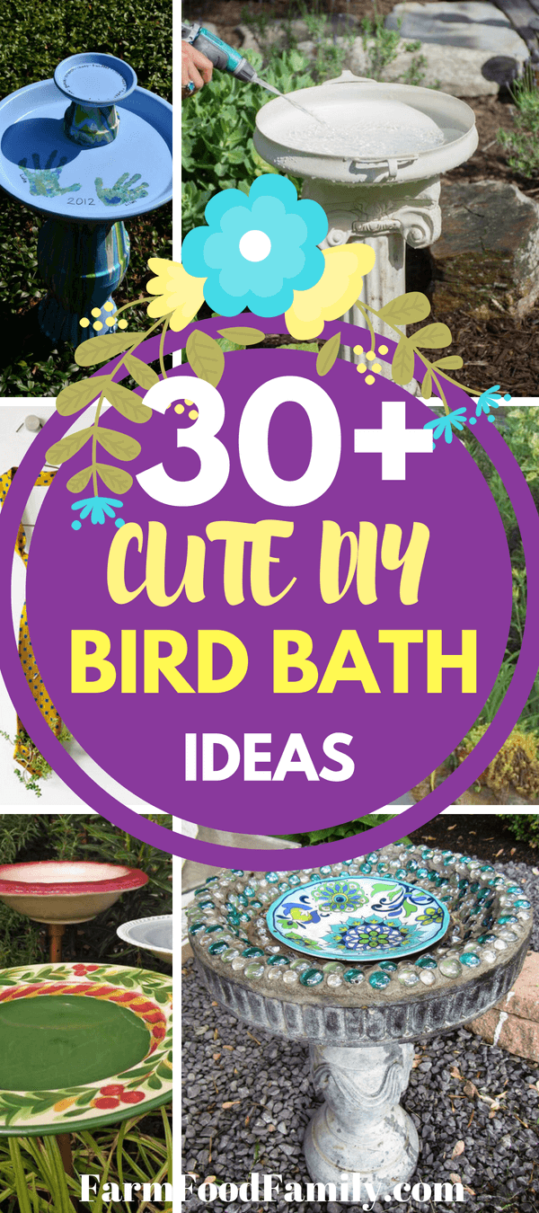 Make your garden charming and inviting by creating a diy bird bath to attract feathered friends in your backyard