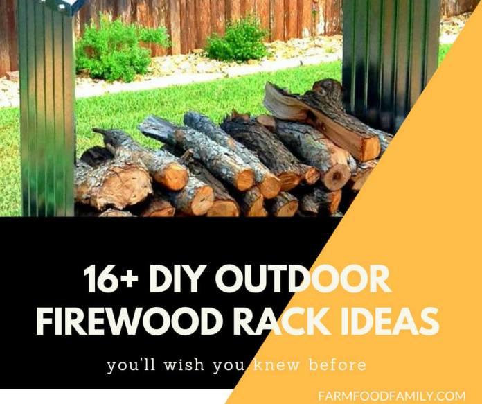 16+ DIY Outdoor Firewood Rack Ideas You Should Try