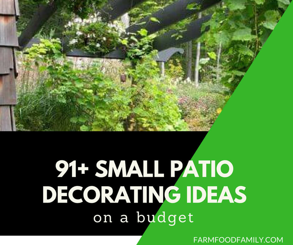91+ Small Patio Decorating Ideas on a Budget - FarmFoodFamily on Patio Decor Ideas Cheap id=58756