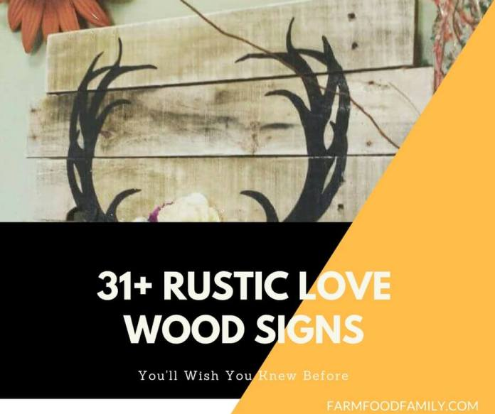 31+ Rustic Wooden Love Signs Ideas
