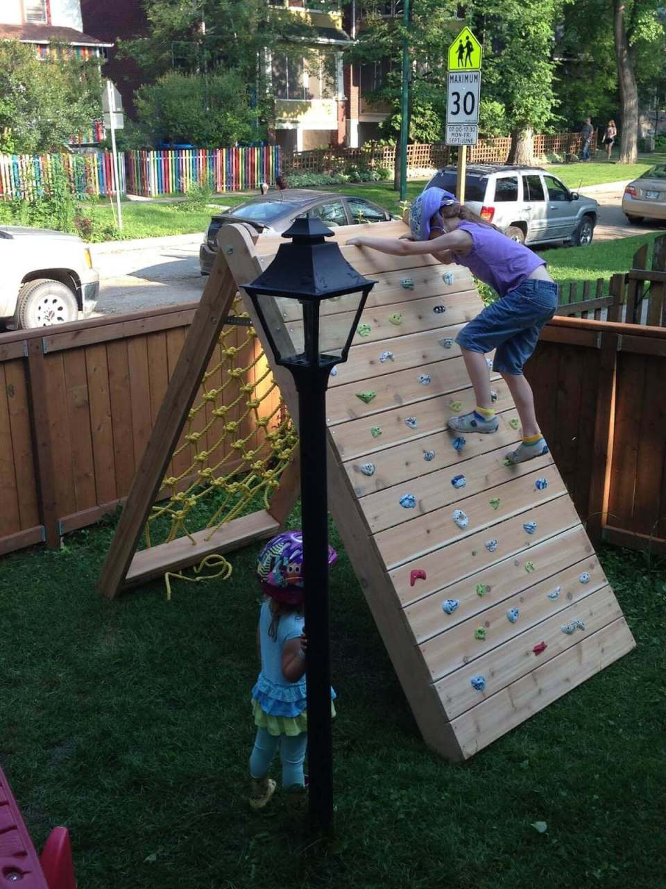 Rock Wall and Cargo Net Obstacle Course