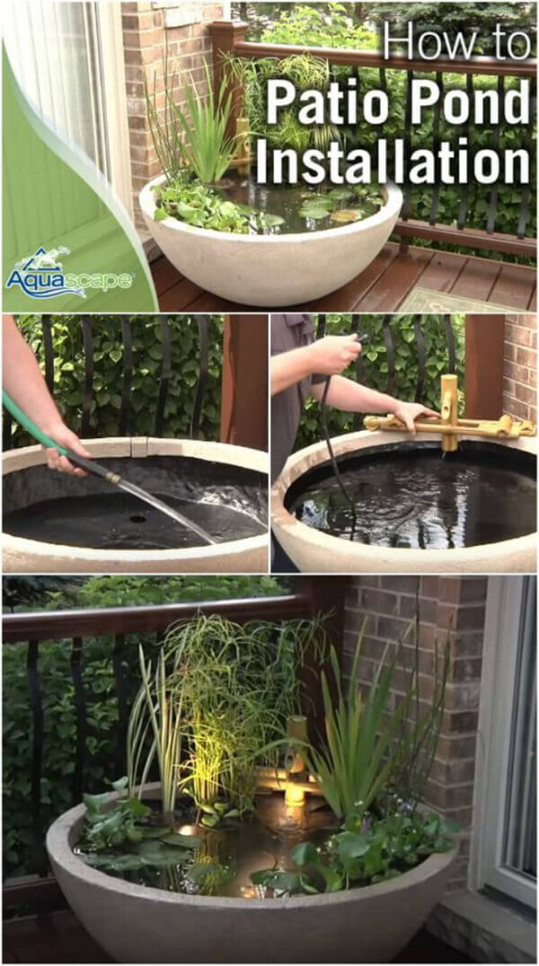 Beautiful Planted Zen Container Pond