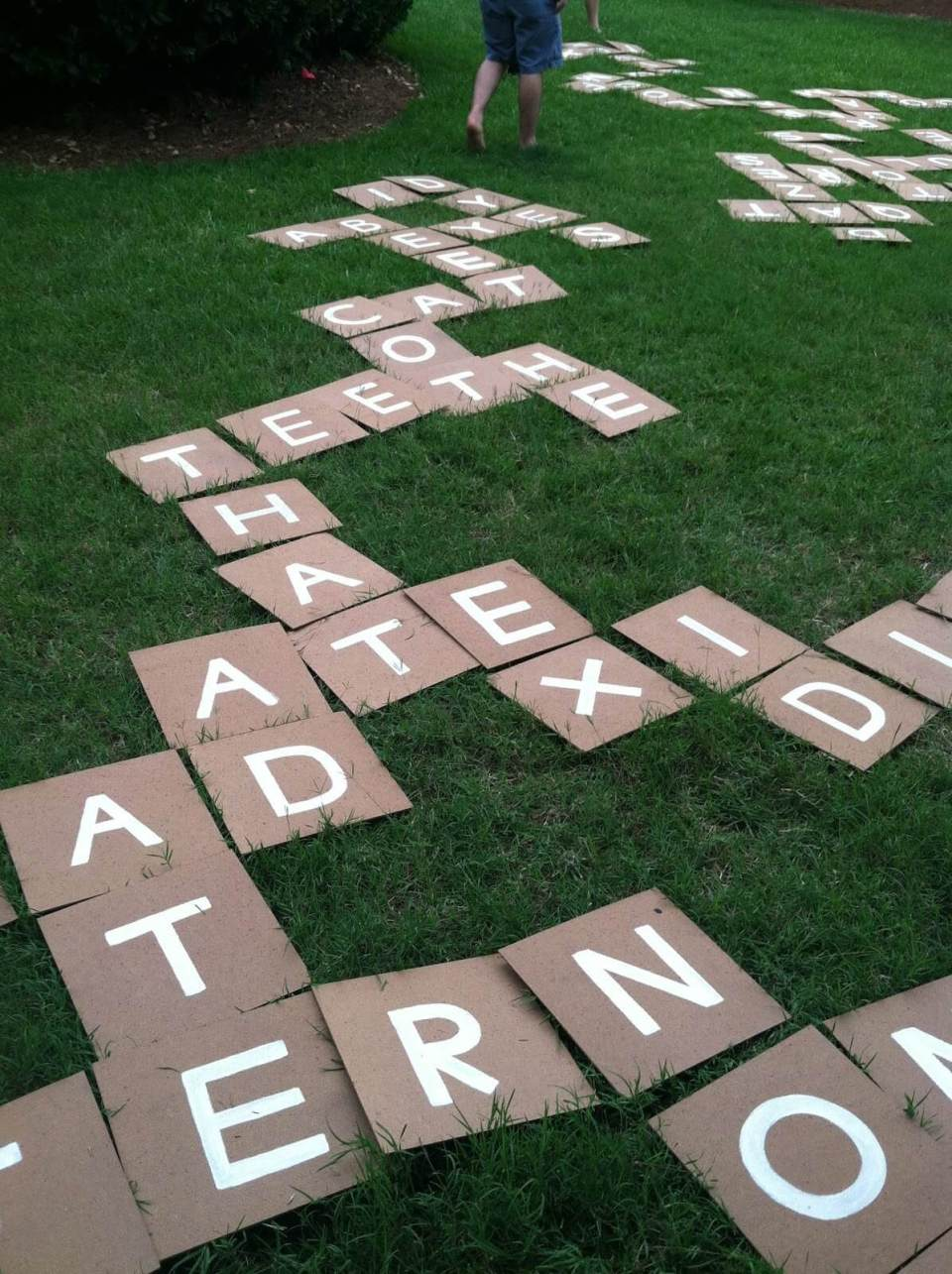 Hand Painted Giant Outdoor Scrabble Tiles