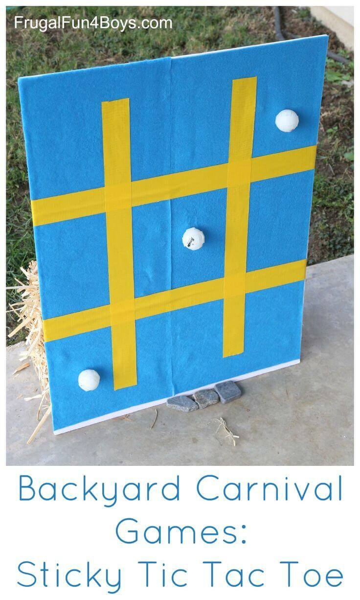 Inexpensive Sticky DIY Tic-Tac-Toe Board