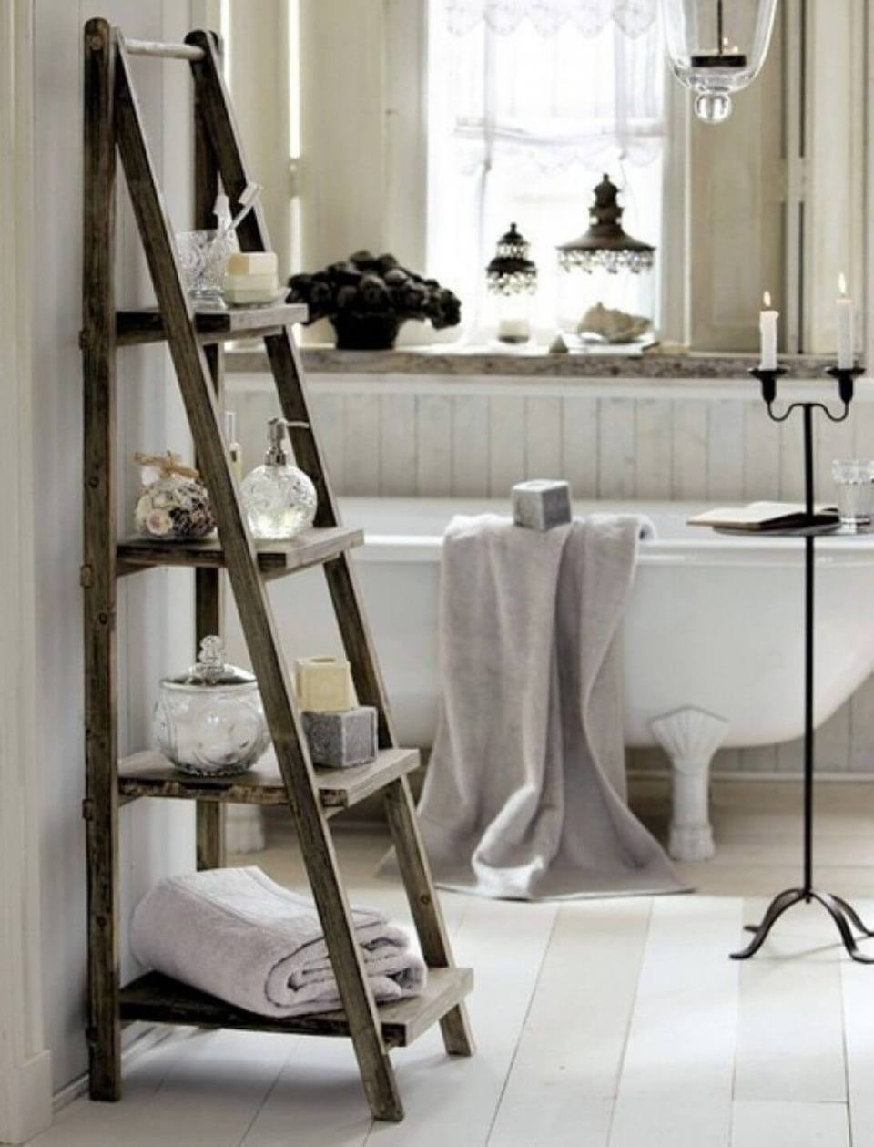 Ladder Display and Bathroom Organizer