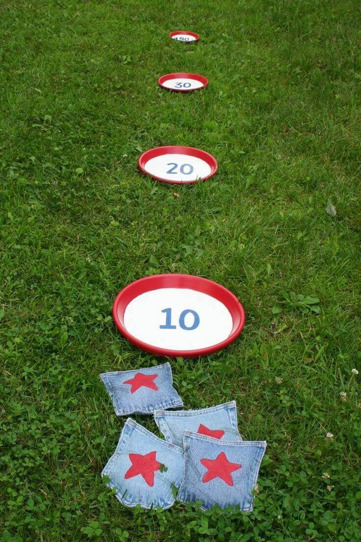 Homemade Bean Bag Toss Game